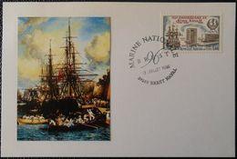 06 Bureau Temporaire Oblitération Brest Naval 29 Finistère Brest 96 Marine Nationale 13 Juillet 1996 - Marcophilie (Lettres)