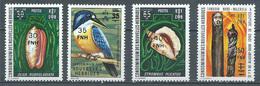 Nouvelles Hébrides YT N°455-456-457-458 Art Indigène, Oiseau Et Coquillage Surchargé Neuf ** - Neufs
