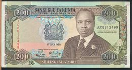 °°° KENYA - 200 SHILLINGS 1990 °°° - Kenia
