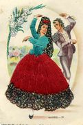 Carte Brodée - Danse Espagnole - MADRID 24 - Brodées