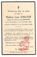 DP Pieuse - Lucie Ghelein ° Boeschepe FR Nord 1873 † Belle Bailleul 1940 X Jules Verhaeghe - Santini