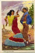 Carte Brodée - Danse Espagnole - Zapateado - Brodées