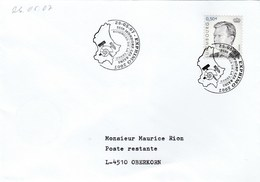 2007  LUXEMBOURG COVER EVENT Pmk FOSSIL , EARTH SCIENCE Fossils Prehistory Prehistoric Stamps Minerals - Stamps