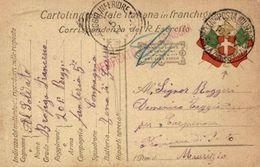 1917 Cart. Postale In Franchigia - 1a GM - Interit. N 7 (Vedi 2 Foto) - PM Zona Gorizia 10.5.17 Per Agaggio (IM) - 1900-44 Victor Emmanuel III