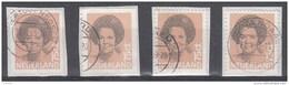 Nederland - 10.000 Zegels - Beatrix In Zwart - Waarde 75 Ct - Twee-,drie-,vierzijdig Getand - O - Onafgeweekt/fragment - Stamps