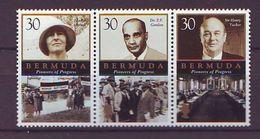Bermuda - 2000 Pioneers Of Progress  - Strip 3 V Mint ** - Bermudas