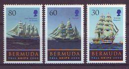 Bermuda - 2000 Tall Ships Race - 3 V Mint ** - Bermudas