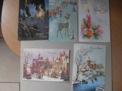 5 Cartes De Bonne Année - Le Roeulx Binche Braine Le Comte - Cartes Postales