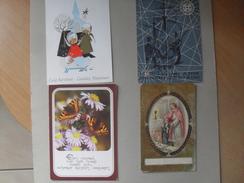 4 Cartes De Bonne Année  En Néerlandais - Bruxelles Uccle 1913 ... - Cartes Postales