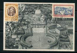 VATICAN- Carte Postale Du 4/03/1947 Avec Timbres Y&T N°137 Et Express 7 - Vatican
