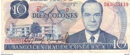 Costa Rica P.237  10 Colones 1986 Xf - Costa Rica