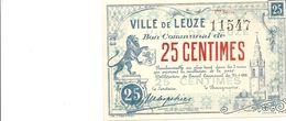 Argent De Nécessité - Noodgeld - Leuze - UNC - [ 3] German Occupation Of Belgium