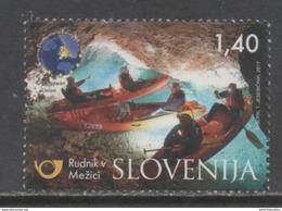 SLOVENIA, 2017, MNH, TOURISM, CAVES, CANOES, MEZICA MINE, 1v - Holidays & Tourism