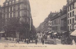 75010  . Paris . La Rue Du Faubourg Saint Martin  . - Distretto: 10