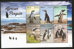 J) 2007 LIBERIA, AFRICAN PENGUIN, LANDSCAPE, SEA, SUN, SET OF 3 SOUVENIR SHEET, MNH - Liberia