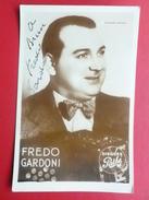 AUTOGRAPHE FREDO GARDONI  14.5 X 9.5 - Autogramme & Autographen