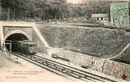 92. CPA Train à La Sortie Du Tunnel De Meudon, Ligne Val Fleury A Chaville.. 1908. - Chaville