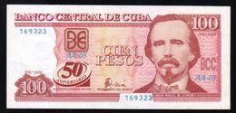CARIBE / 100 PESOS 2000 Serie AA-05 50TH ANNIVERSARY PICK 120  UNC RARE - Cuba