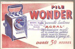 Buvard WONDER Pile WONDER ACRAL Durée 50 Heures Buvard Offert Par KINZING RADIO à Orléans - Accumulators