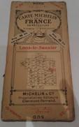 Rare Carte Michelin Des Années 20 Ref 25 Lons Le Saunier - Cartes