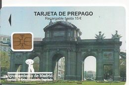 TARJETA APARCAMIENTO PREPAGO AYUNTAMIENTO MADRID - Tarjetas Telefónicas