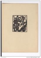 Ex Libris St Georges Terrassant Le Dragon Style 1930 Anonyme - Ex-libris