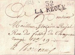 GIRONDE - 32 LA REOLE - LETTRE DE SAVIGNAC AVEC TEXTE ET SIGNATURE LE 28-10-1823 (P1) SUPERBE - Marcophilie (Lettres)