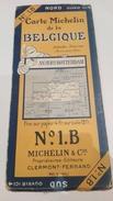 Rare Carte Michelin Ancienne Ref N° 1B Belgique Anvers Rotterdam - Strassenkarten