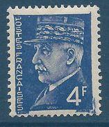 FRANCE - YT N°522 - 4f. Outremer - Maréchal Pétain - Type Hourriez - Neuf** - TTB Etat - 1941-42 Pétain