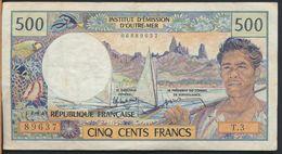 °°° POLYNESIA FRANCAISE - PAPEETE - 500 FRANCS °°° - Papeete (French Polynesia 1914-1985)
