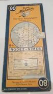 Carte Michelin 1938 Ref N° 80 Rodez Nimes - Roadmaps