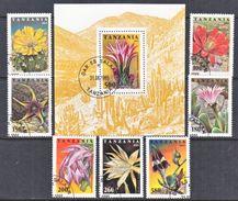 TANZANIA  1388-95  (o)   PLANTS   CACTUS  FLOWERS - Cactusses