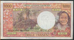 °°° POLYNESIA FRANCAISE - PAPEETE - 1000 FRANCS °°° - Papeete (French Polynesia 1914-1985)