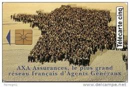 CARTE°-PRIVEE-5U-GN86-09/94-AXA ASSURANCES- UTILISEE-TBE - - France