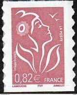 France Autoadhésif N°   53 A ** Ou 3802_B Marianne De Lamouche - Légende ITFV 0.82 Eur. Dentelé Ondulé 2 Cotés - Francia