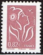 France Autoadhésif N°   53 B ** Ou 3802_B Marianne De Lamouche - Légende Phil@poste 0.82 Dentelé Ondulé 4 Cotés - Francia