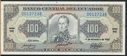 °°° ECUADOR - 100 SUCRES 1992 UNC °°° - Ecuador