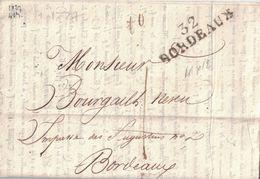 GIRONDE - 32 BORDEAUX - LETTRE AVEC TEXTE COURS DES ACTIONS DU PONT DE LIBOURNE ET DE BORDEAUX LE 2218-1827 (P1) - Marcophilie (Lettres)