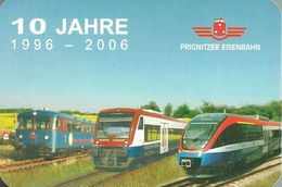 RAIL * RAILROAD * RAILWAY TRAIN * STADLER REGIO-SHUTTLE DIESEL RAILCAR * CALENDAR * Prignitzer Eisenbahn 2006 * Germany - Calendari