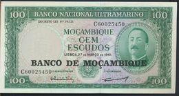 °°° MOCAMBIQUE -100 ESCUDOS 1961 UNC °°° - Mozambique