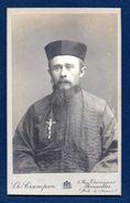 Mini-photo Cartonnée. Portrait Missionnaire. Photo Ch. Crampon, Bruxelles - Personnes Anonymes