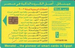 TARJETA TELEFONICA DE EGIPTO (CHIP) (482) - Egipto