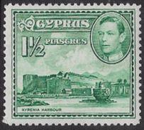 Cyprus SG155ab 1951 Definitive 1½pi Mounted Mint [35/29667/2D] - Cyprus (...-1960)