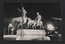 Real Photo Postcard MADRID Monumento A DON QUIJOTE ESPAÑA SPAIN Z1 - Postcards