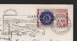 LIONS INTERNATIONAL Stamp 1967 Postmark BIARRITZ POSTCARD FRANCE Z1 - Europe (Other)