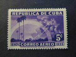 1936 - CUBA - LIGHTNING - SCOTT C22 AP9 5C - Airmail