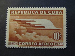 1936 - CUBA - ALLEGORY OF FLIGHT - SCOTT C23 AP10 10C - Airmail