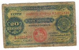 Mocambique 20 Centavos , 1914, Used, SEE SCAN. - Mozambique