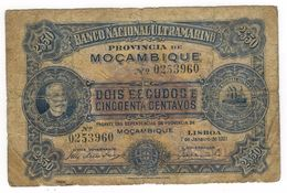 Mocambique 2.50  Escudos , 1921, G. - Mozambique