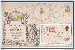 TRISTAN DA CUNHA, 1981 EARLY MAPS MINISHEET MNH - Tristan Da Cunha